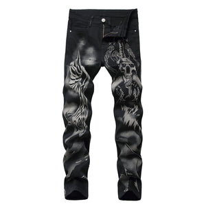 DEMON PRINTED SKINNY JEANS