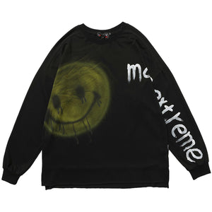 """PUCKISH SMILE"" GRAFFITI SWEATSHIRT"