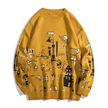 "Load image into Gallery viewer, ""SKY FLY"" PRINTED KNITTED SWEATER"