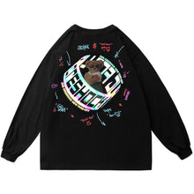 "Load image into Gallery viewer, ""REFLECTIVE BEAR"" PRINTED SWEATSHIRT"