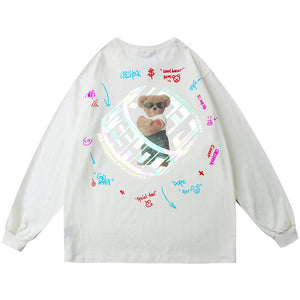 """REFLECTIVE BEAR"" PRINTED SWEATSHIRT"