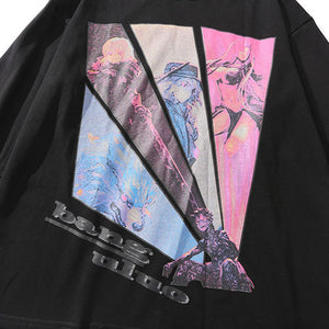 """ANIME FIGURES"" PRINTED SWEATSHIRT"