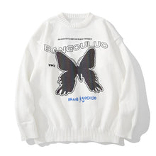 "Load image into Gallery viewer, ""REFLECTIVE BUTTERFLIES"" PRINTED KNITTED SWEATER"