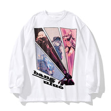 "Load image into Gallery viewer, ""ANIME FIGURES"" PRINTED SWEATSHIRT"