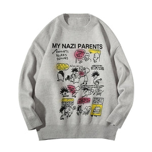 ANIMATION PRINTED KNITTED SWEATER