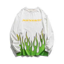 "Load image into Gallery viewer, ""FLAME SMILEY"" PRINTED SWEATSHIRT"