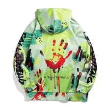 Load image into Gallery viewer, BLOOD FINGERPTINTS PRINTED HOODIES