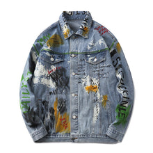 "Load image into Gallery viewer, ""METACARPALS"" GRAFFITI DENIM JACKET"