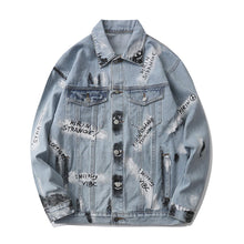 Load image into Gallery viewer, COLORFUL GRAFFITI DENIM JACKET