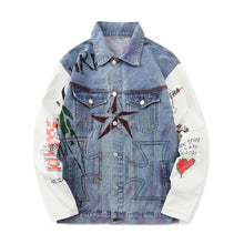 Load image into Gallery viewer, PATCHWORK DENIM JACKET