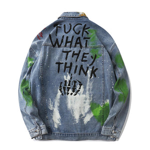 """METACARPALS"" GRAFFITI DENIM JACKET"