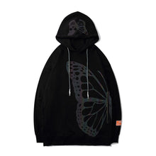 "Load image into Gallery viewer, ""SKULL BUTTERFLY"" REFLECTIVE HOODIES"