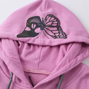 """SKULL BUTTERFLY"" REFLECTIVE HOODIES"
