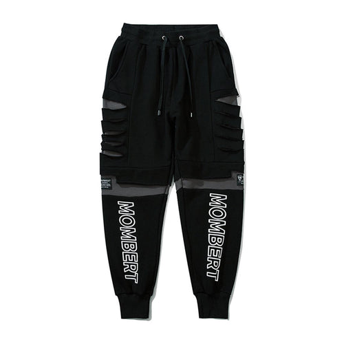 PATCHWORK RIPPED JOGGERS