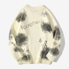 "Load image into Gallery viewer, ""DOLL"" TIE DIE PRINTED KNITTED SWEATER"