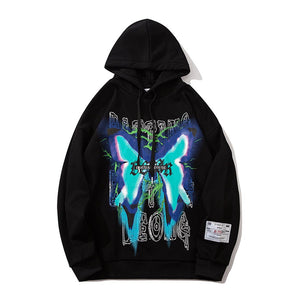 """BRIGHT BUTTERFLY"" PRINTED HOODIES"