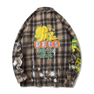"""DEUS"" GRIDS LONG SLEEVE SHIRT"