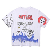 "Load image into Gallery viewer, ""NOT REAL"" PRINTED T-SHIRT"