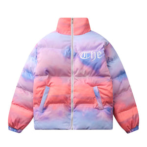 """CLOUDY SKY"" PRINTED COTTON JACKET"