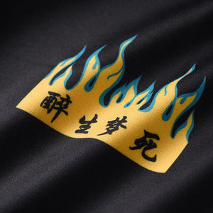 YELLOW FLAME PRINTED HOODIES