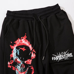 """RED SKULL"" PRINTED JOGGERS"