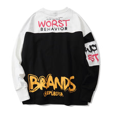 "Load image into Gallery viewer, ""WORST BEHAVIOR"" PRINTED SWEATSHIRT"