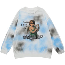 "Load image into Gallery viewer, ""LITTLE ANGEL"" TIE DIE PRINTED KNITTED SWEATER"