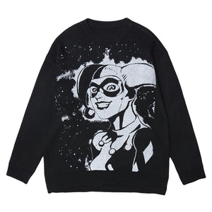 """CLOWN"" PRINTED KNITTED SWEATER"