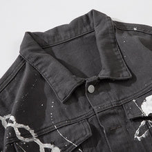 "Load image into Gallery viewer, ""CHAIN"" PRINTED DENIM JACKET"