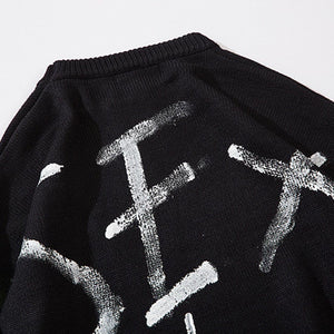 """MONEY"" PRINTED KNITTED SWEATER"