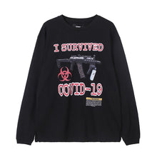 "Load image into Gallery viewer, ""SURVIVED"" PRINTED SWEATSHIRT"