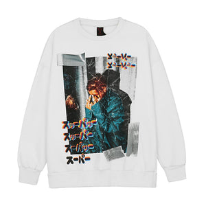 BROKEN PHOTO PRINTED SWEATSHIRT