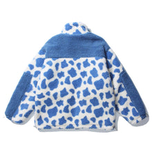 Load image into Gallery viewer, DAIRY COW PRINTED FLEECE JACKET