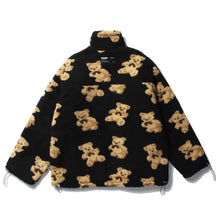 Load image into Gallery viewer, BEAR PRINTED FLEECE JACKET