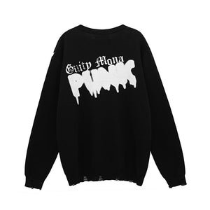 """PUNK"" PRINTED KNITTED SWEATER"