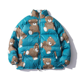 """BEARS"" PRINTED COTTON JACKET"