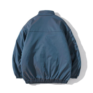 ZIPPER POCKETS CHORE COTTON JACKET