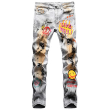 "Load image into Gallery viewer, ""HELL"" PRINTED SKINNY JEANS"
