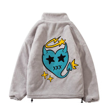 "Load image into Gallery viewer, ""LITTLE DEVIL"" EMBROIDERY FLEECE JACKET"