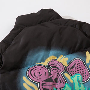 GRAFFITI PRINTED COTTON JACKET