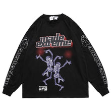 "Load image into Gallery viewer, ""DANCING SKULL"" GRAFFITI SWEATSHIRT"