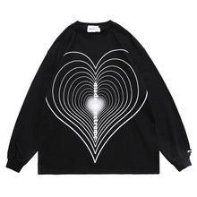 "Load image into Gallery viewer, ""LOVE SWIRL"" PRINTED SWEATSHIRT"