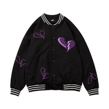 Load image into Gallery viewer, BROKEN HEART EMBROIDERY VARSITY JACKET