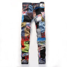 Load image into Gallery viewer, SPLICE SKINNY JEANS