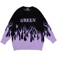 Load image into Gallery viewer, EMBROIDERY BUTTERFLY FLAME KNITTED SWEATER