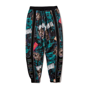 """WOLF"" PRINTED REFLECTIVE JOGGERS"
