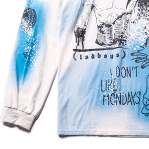 """I DON'T LIKE MONDAYS"" PRINTED SWEATSHIRT"