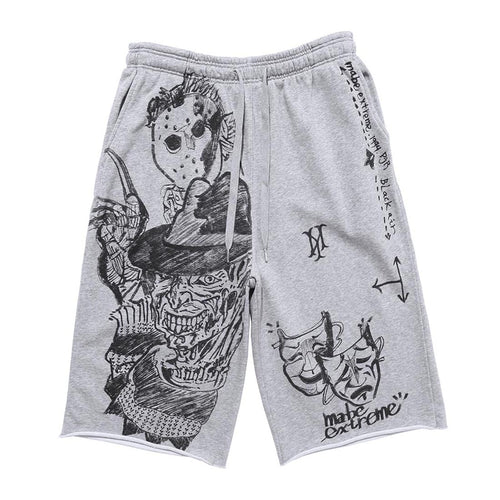 DRAWING PRINTED SHORTS