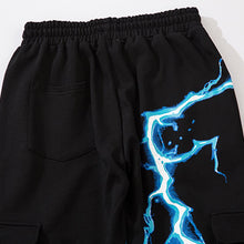 "Load image into Gallery viewer, ""BLUE LIGHTING"" PRINTED JOGGERS"