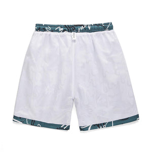 """WHITE CAT"" PRINTED SHORTS"